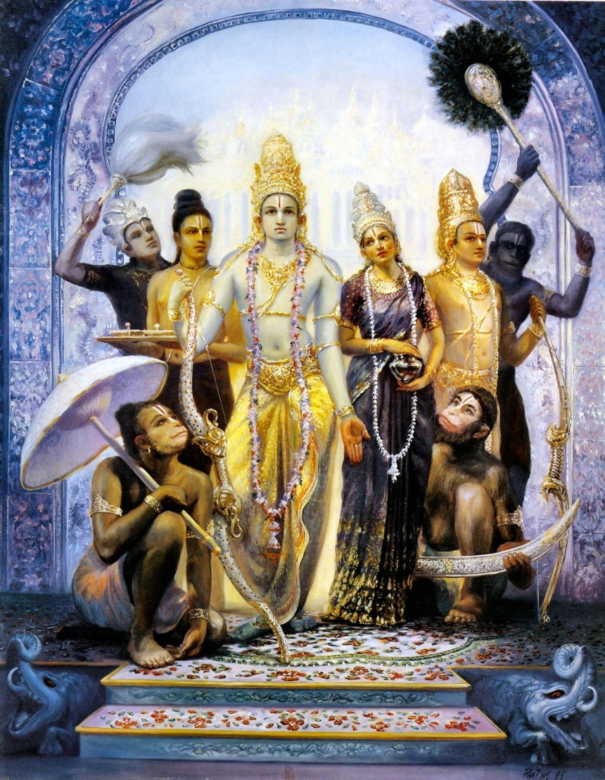 Shree Ram With Maa Sita, Hanumanji, And His Brothers