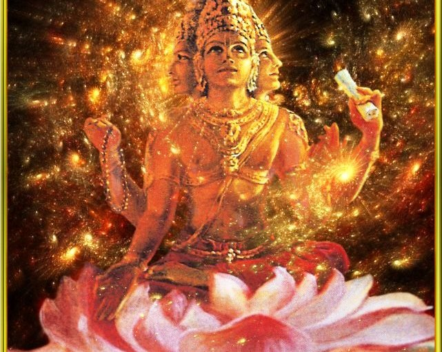 Brahma- the creator of the universe in Hindu mythology