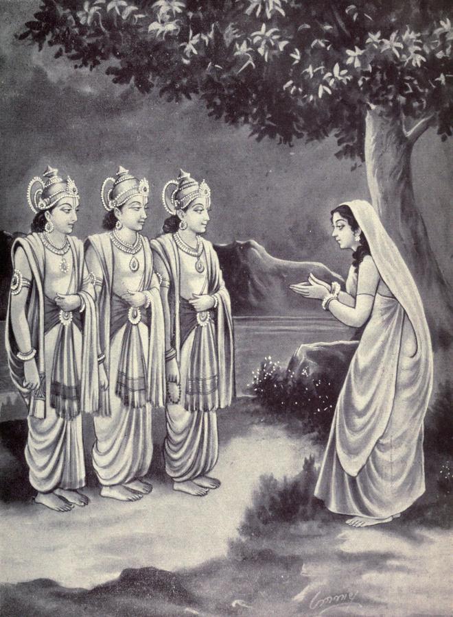 Sukanya_praying_to_Aswini_kumaras_to_reveal_her_husband's_identity.jpg