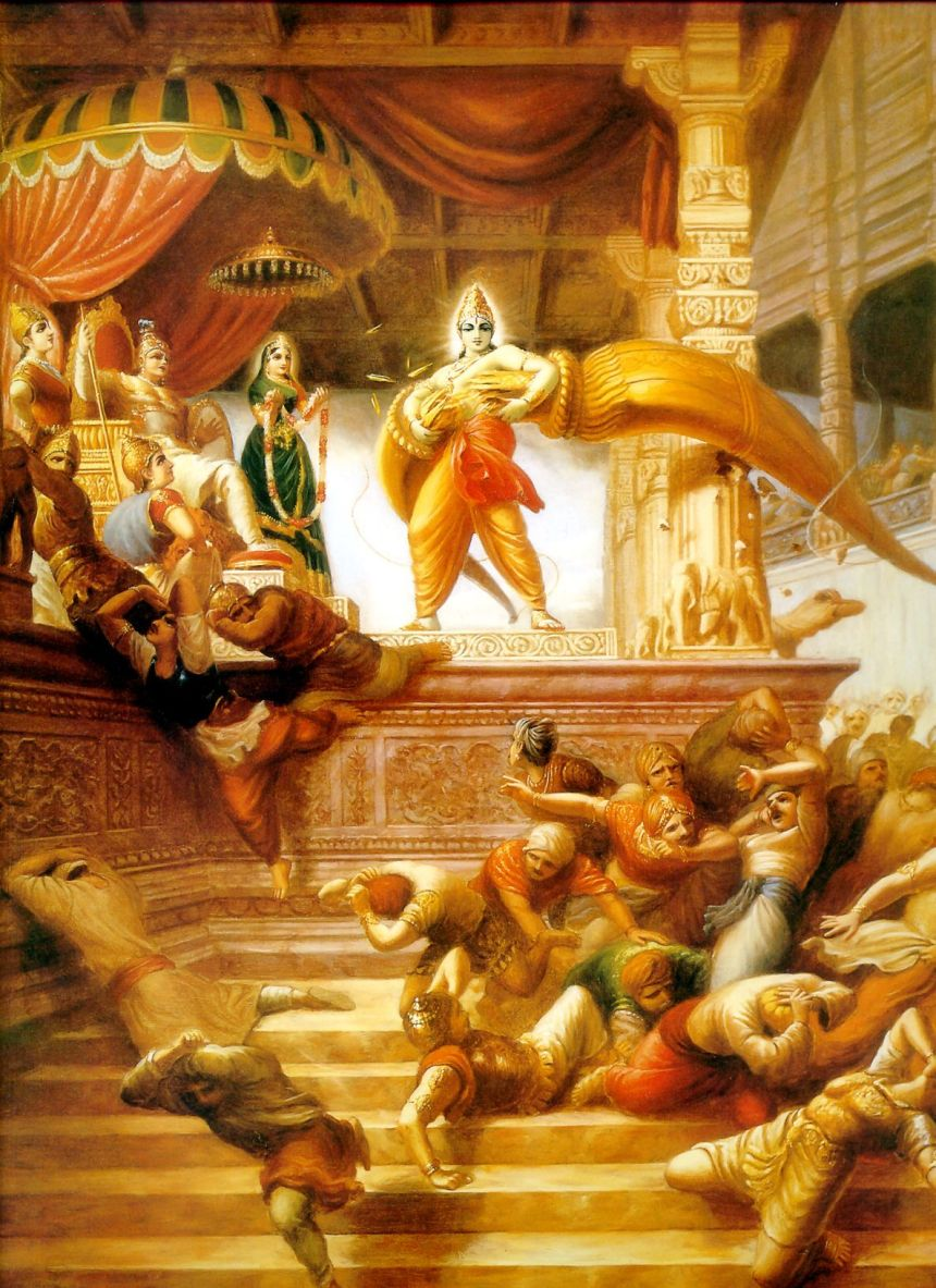 Shree Ram Breaking Bow In The Swayamvar Of Maa Sita