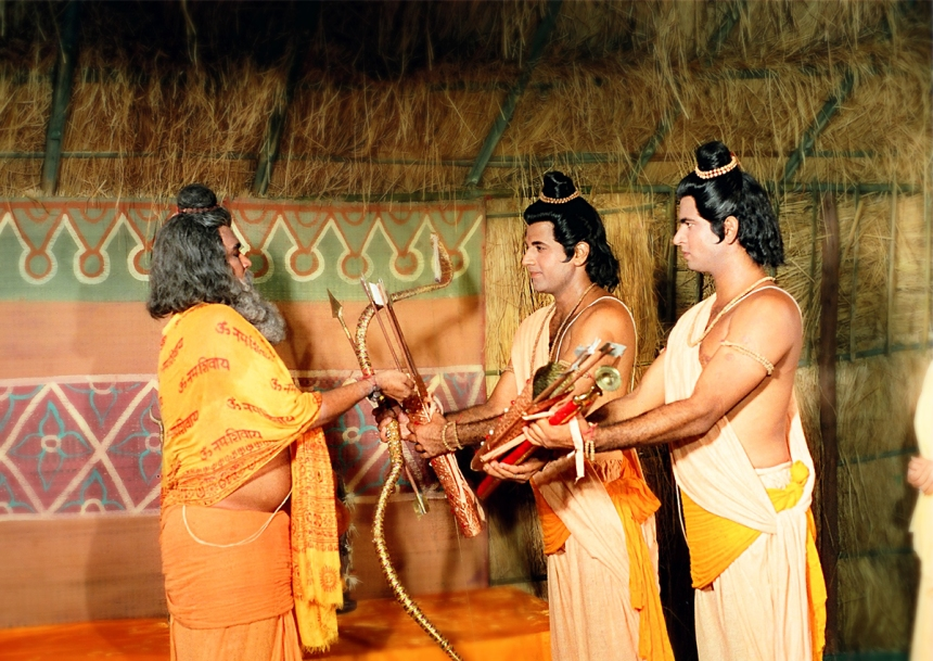 Ram getting weapons from agastya