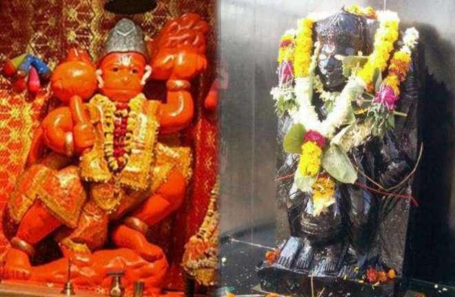 Hanumanji and Shanidev in temples