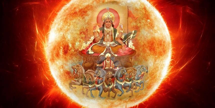 Suryadev, The Sun God - Guru of Hanumanji